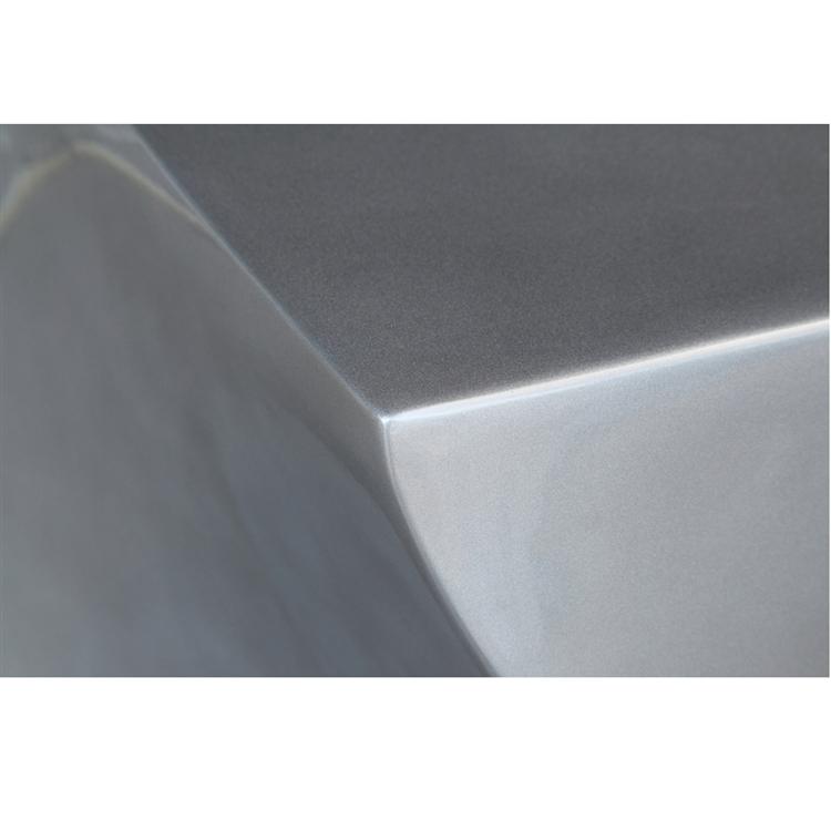 silver geo stool 3