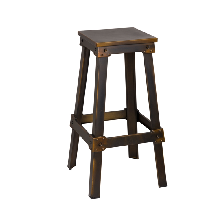 streamline copper barstool