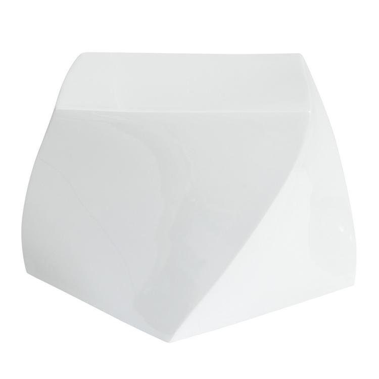 white geo stool
