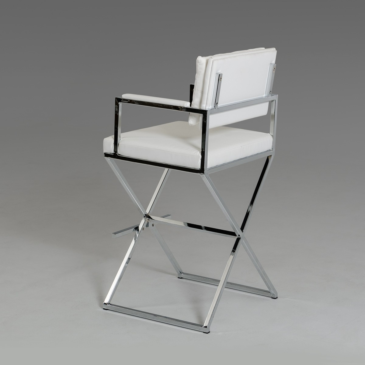 white leather directors barstool 2