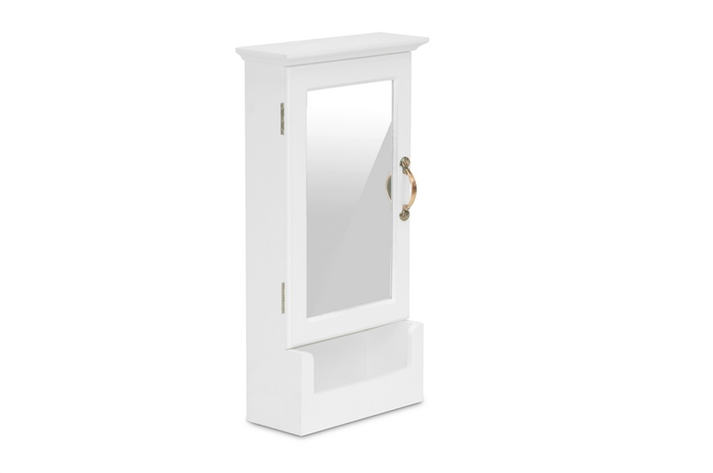 Mirror Wall Cabinet White 2