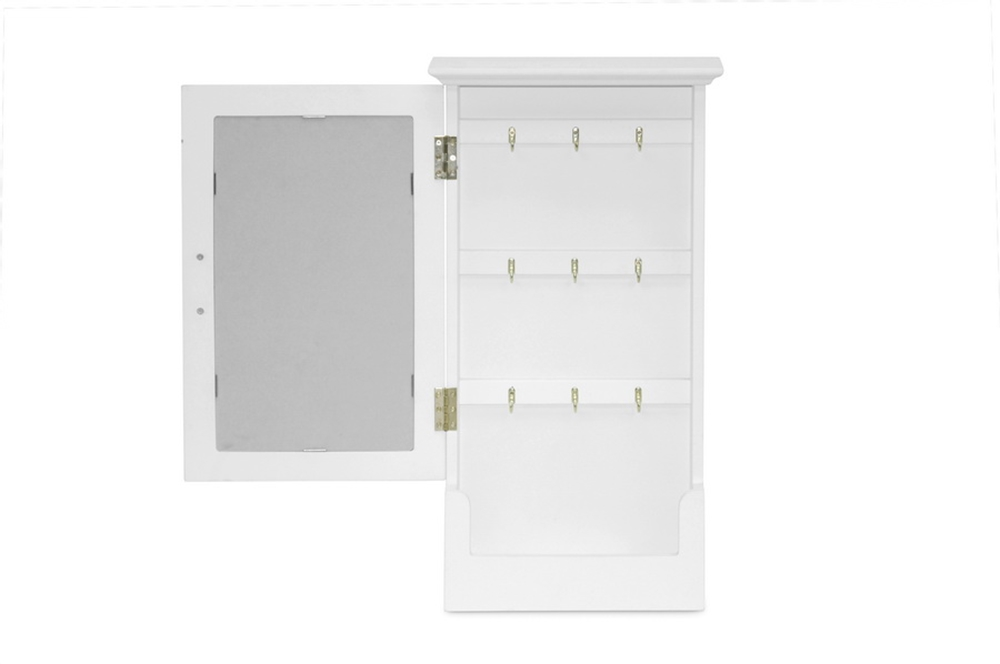Mirror Wall Cabinet White 3