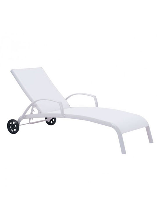 white modern lounge chair