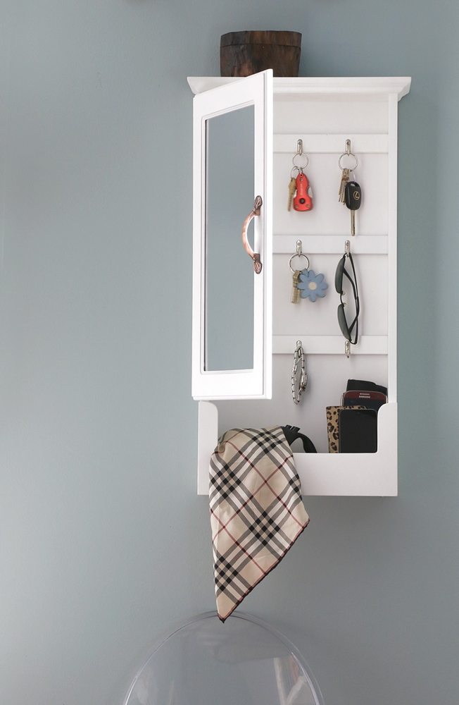 Wall Cabinet with mirror White