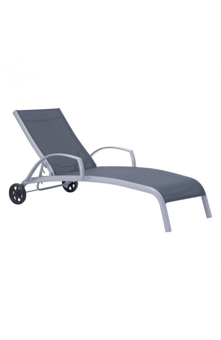 black outdoor lounge chair wheels