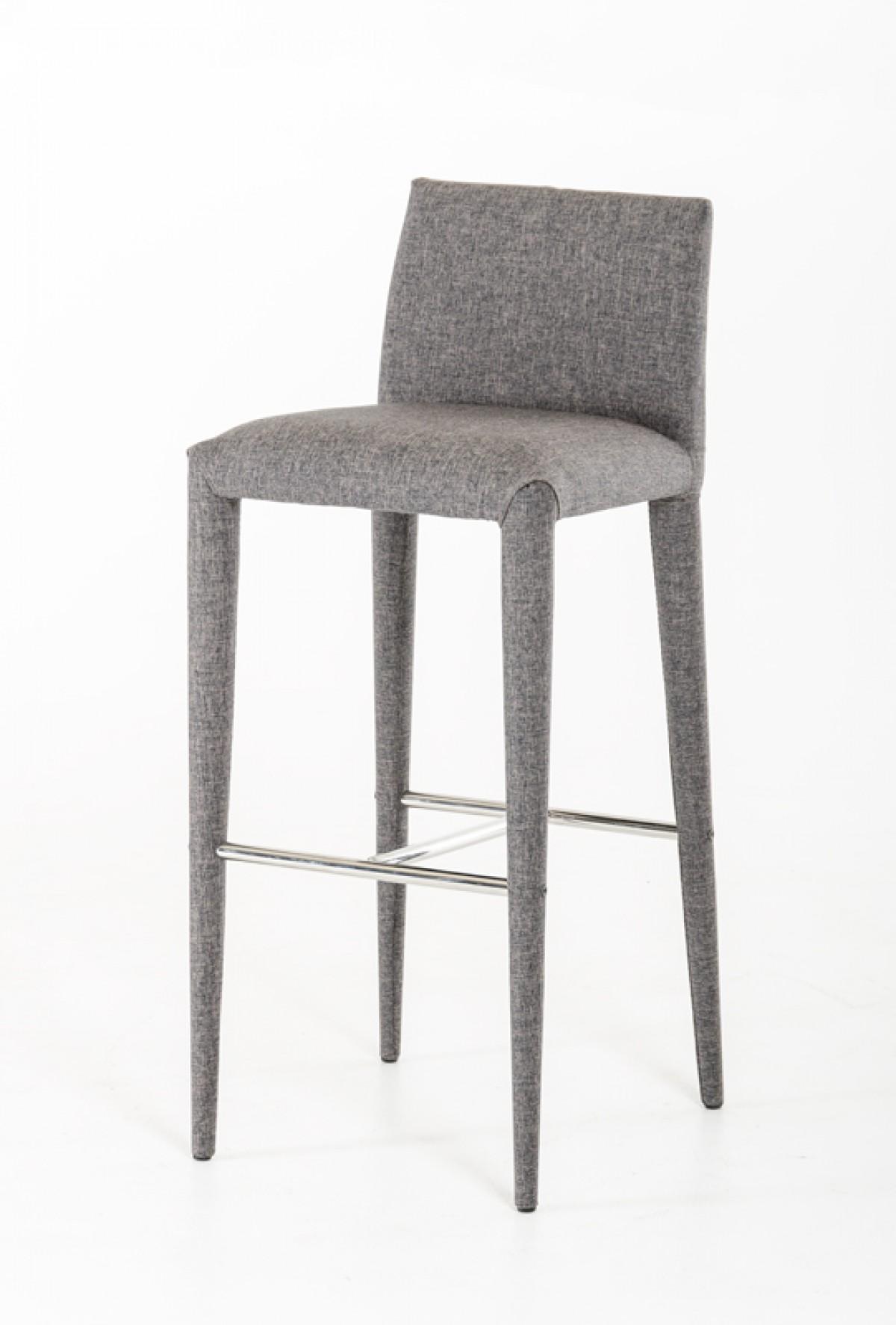 mill gray wool barstool 3