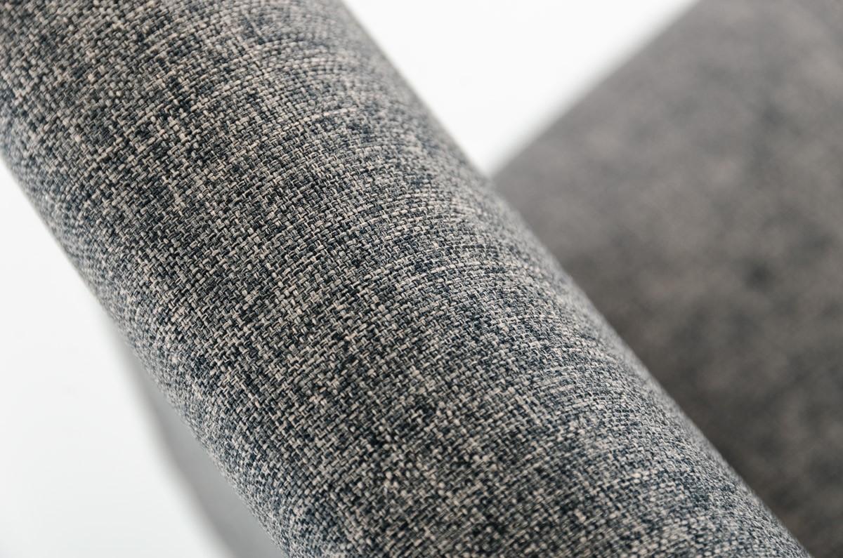 mill gray wool barstool