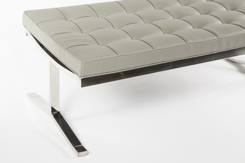 modern lounge gray statement bench 3