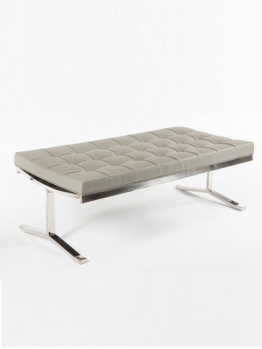 large gray modern bench