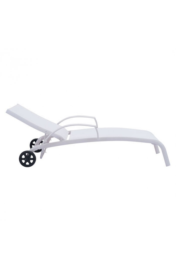 white outdoor lounge chair wheels