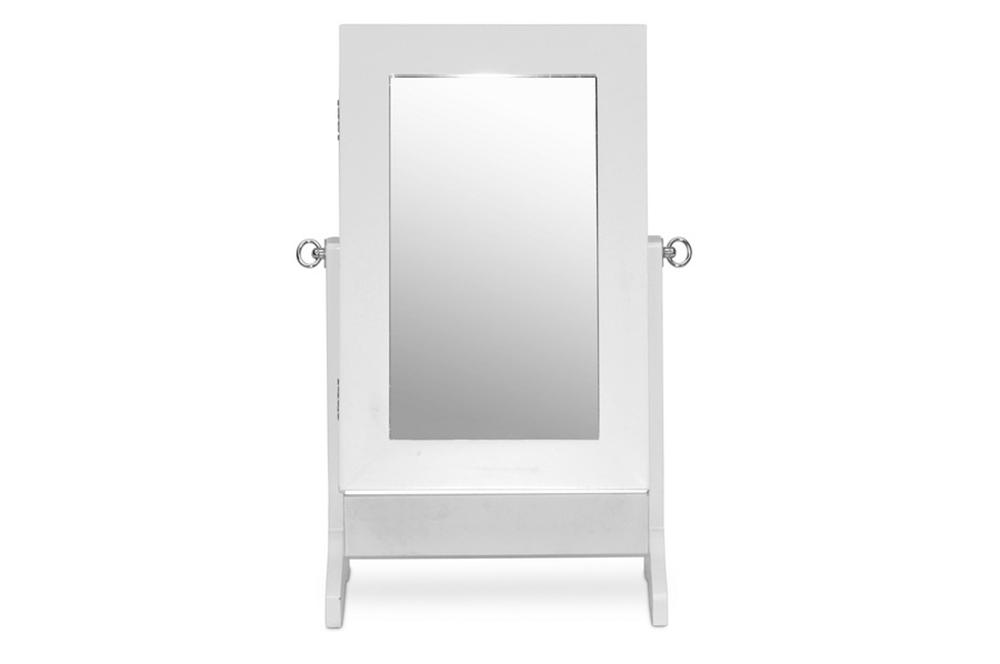white table mirror jewelry box