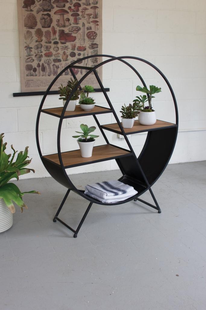 Circular Shelving Unit Modern Furniture Brickell
