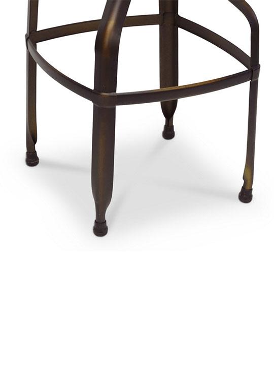 Connoisseur Copper Barstool with Backrest 3