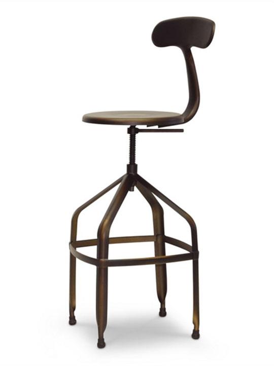 Connoisseur Copper Barstool with Backrest