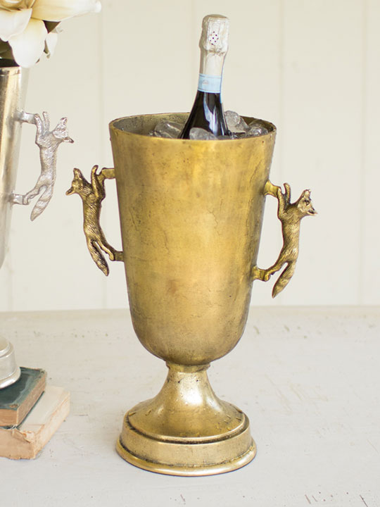 Fox Gold Handle Ice Bucket