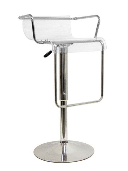 Ghost Clear Barstool