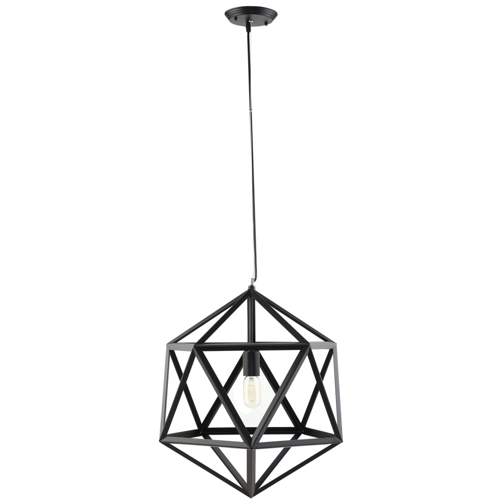 Hexagon Black Metal Chandelier 1