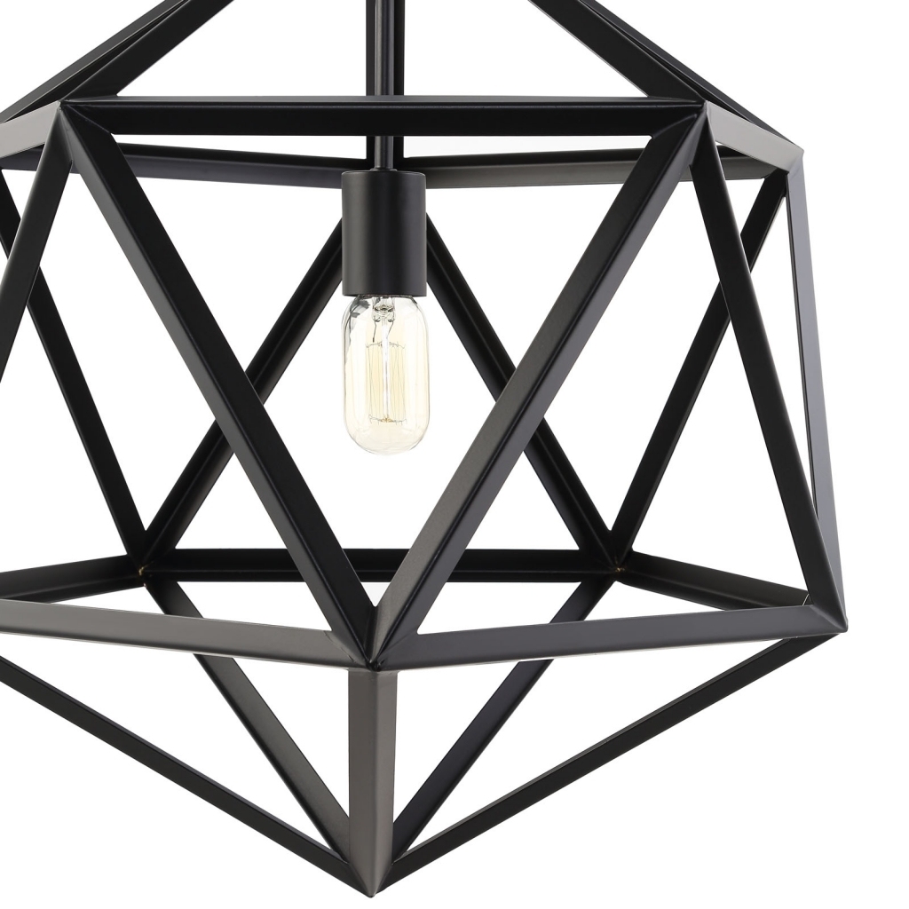 Hexagon Black Metal Chandelier 2