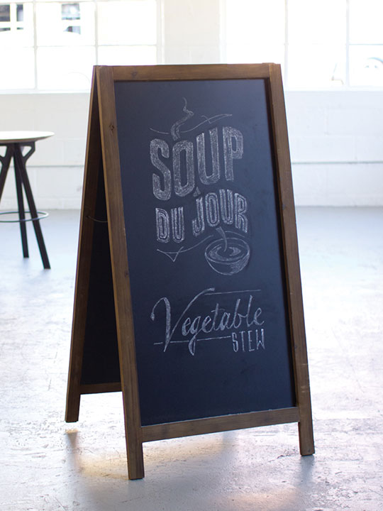 Large Chalk Board Standing Sign