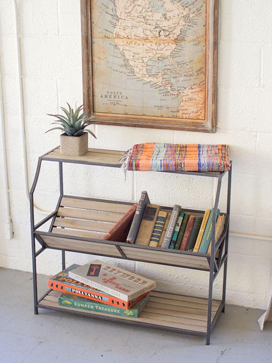 Mojave Wood Console Shelf