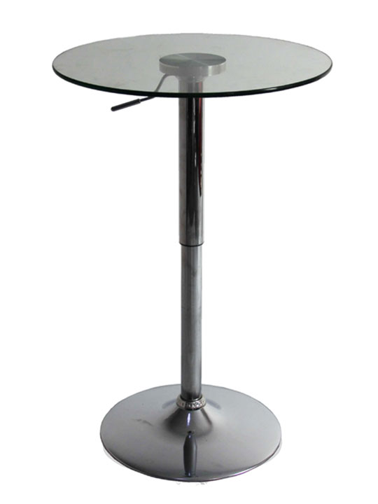 Pump Glass Bar Table