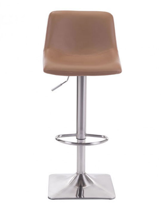 tan leather barstool