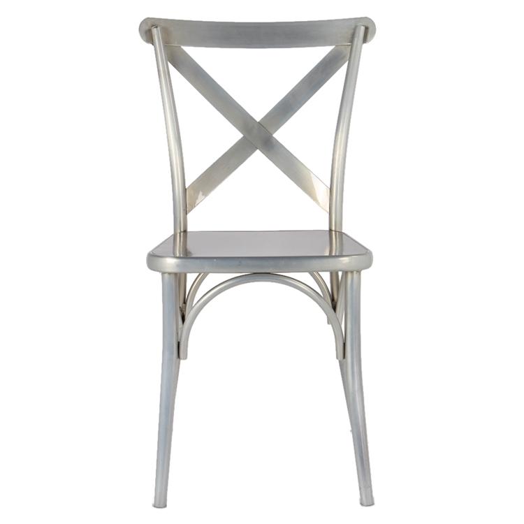 metal chrome x chair