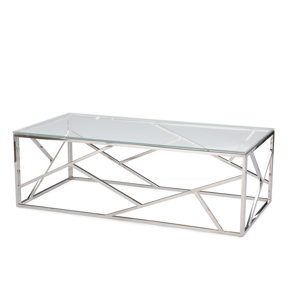 Aero Chrome Glass Coffee Table