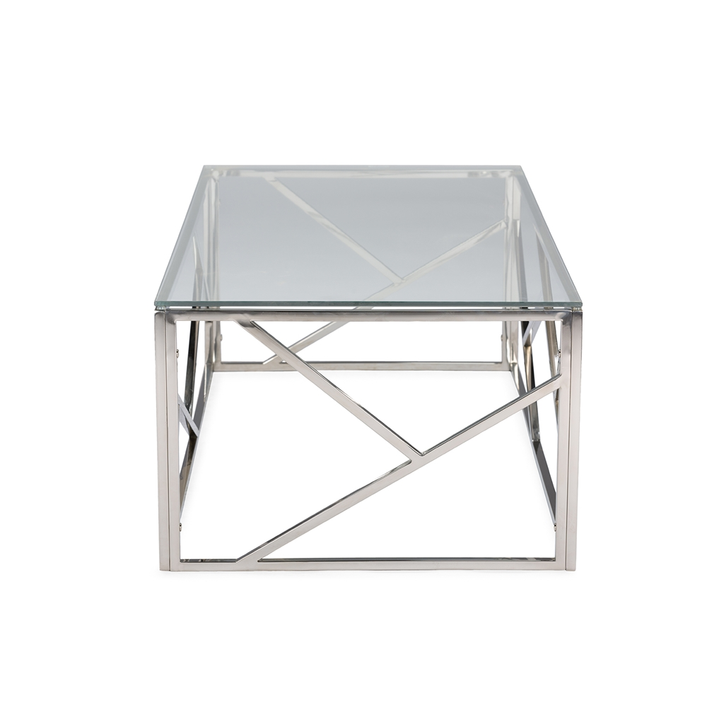 Aero Chrome Glass Coffee Table 3