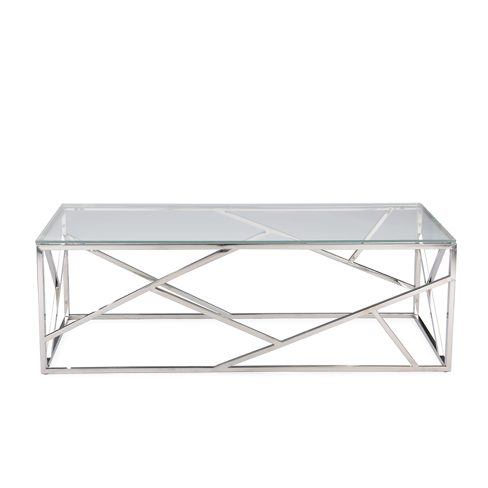 Aero Chrome Glass Coffee Table1