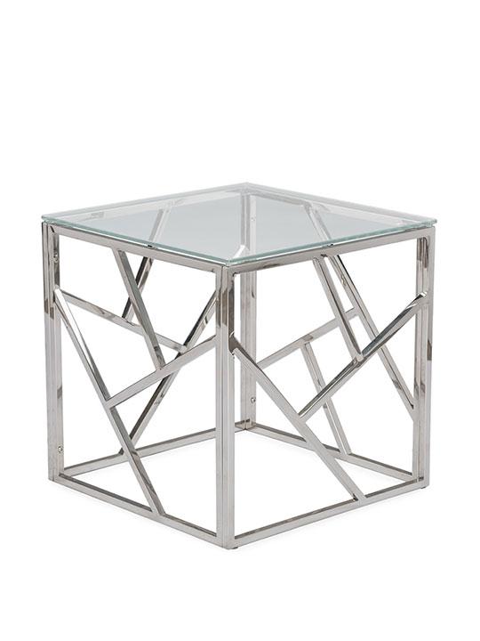 Aero Chrome Glass Side Table