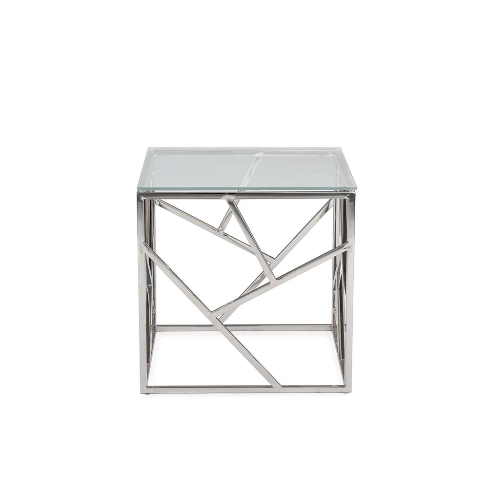 Aero Chrome Glass Side Table1