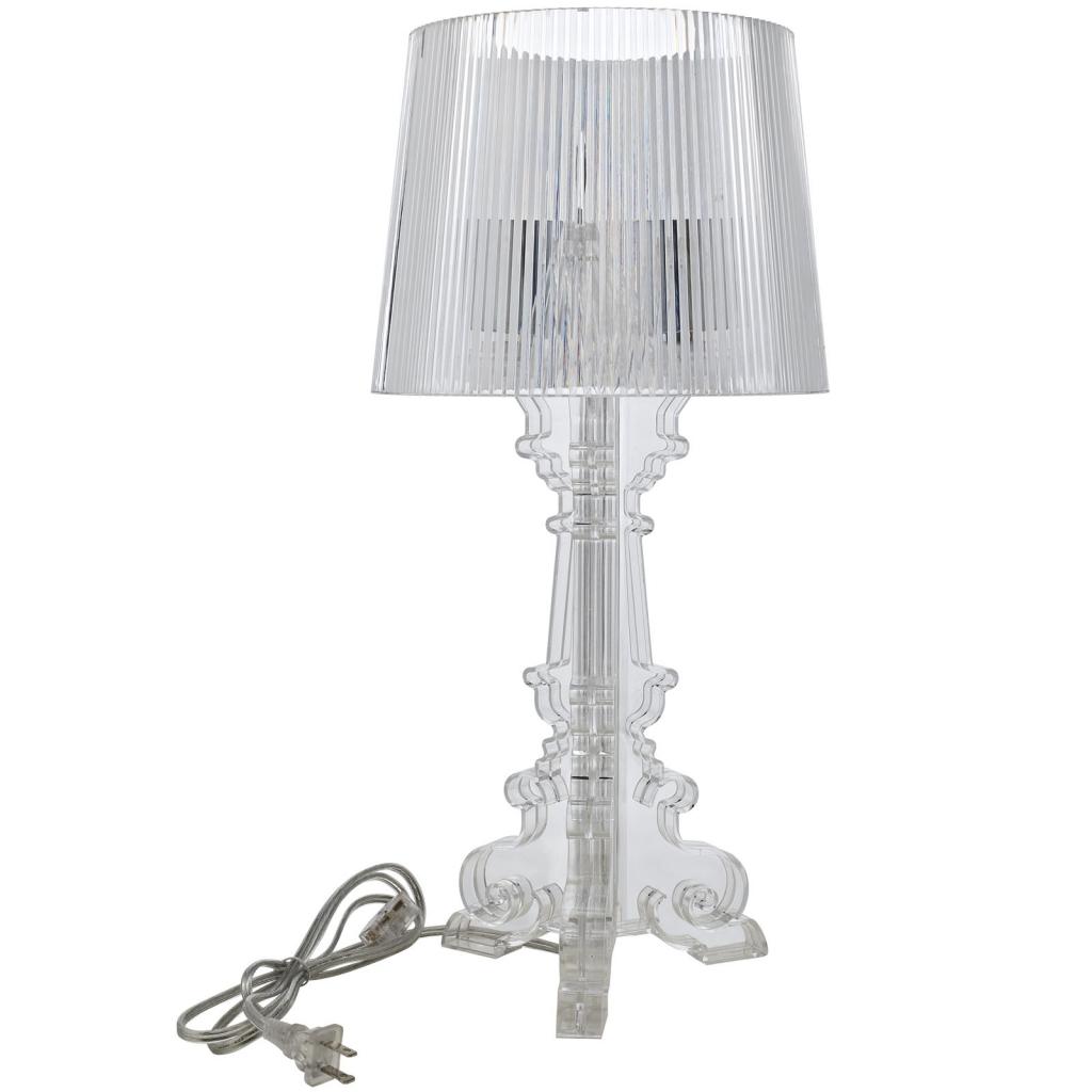 Clear Acrylic Table Lamp Medium