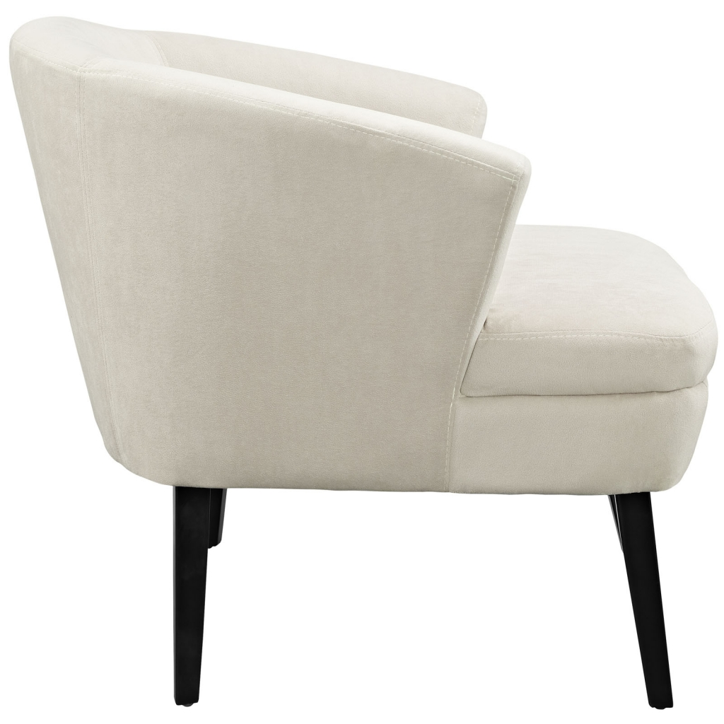 Cream Suede Accent Armchair 2