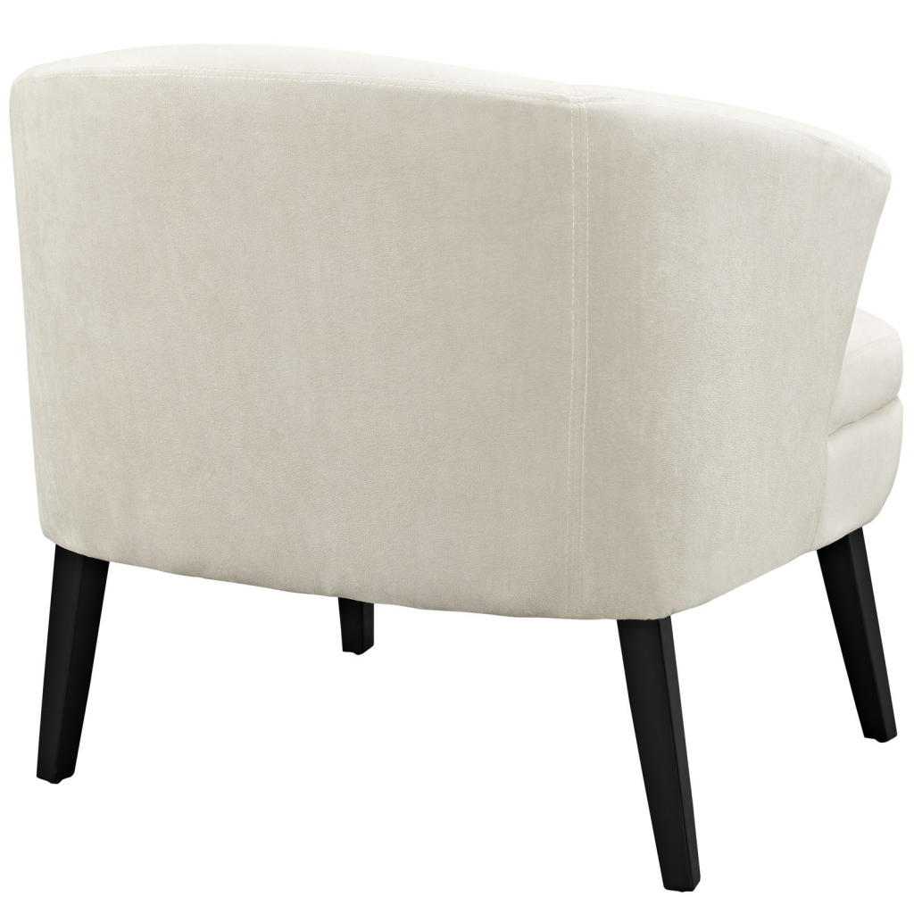 Cream Suede Accent Armchair 3