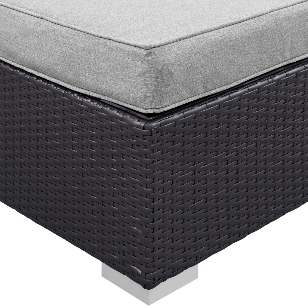 Gray Moda Outdoor Ottoman
