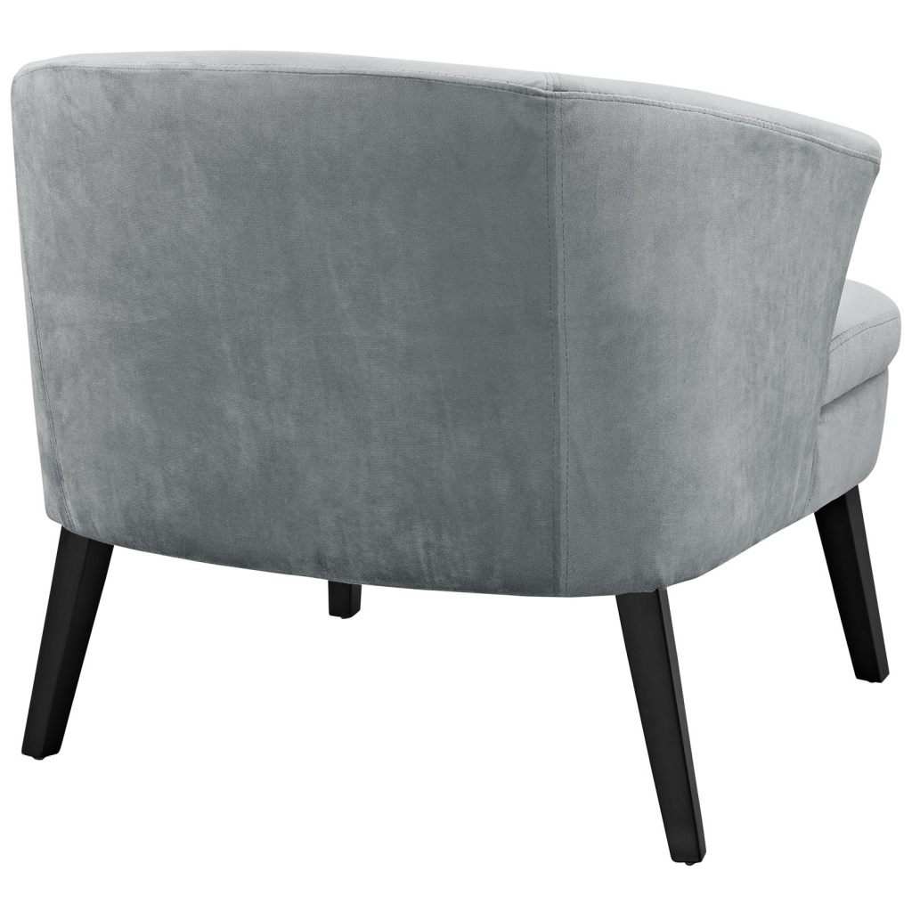 Gray Suede Accent Armchair 3