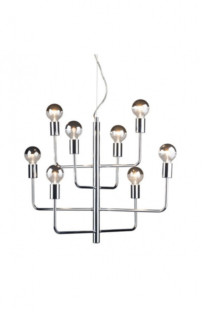 Hollywood Glam Chrome Chandelier 5