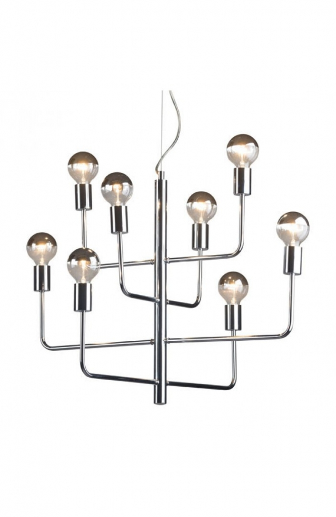Hollywood Glam Chrome Chandelier
