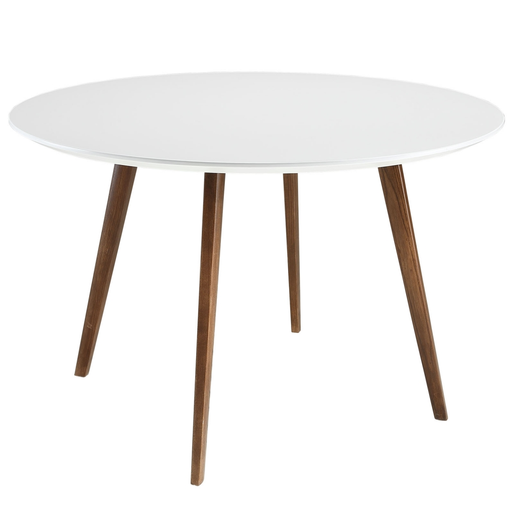 Metro White Walnut Wood Dining Table 1