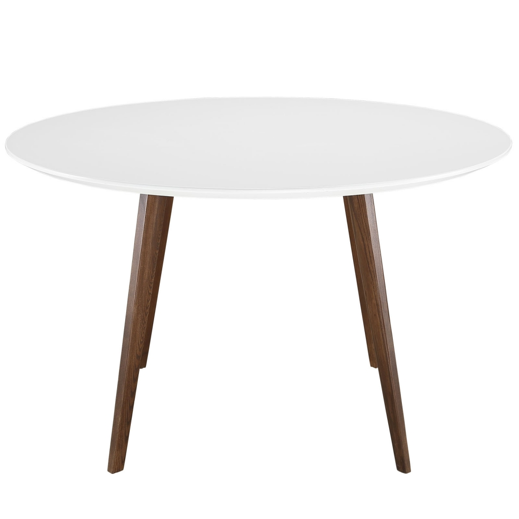 Metro White Walnut Wood Dining Table 2