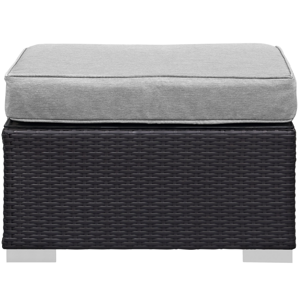 Moda Outdoor Gray Ottoman