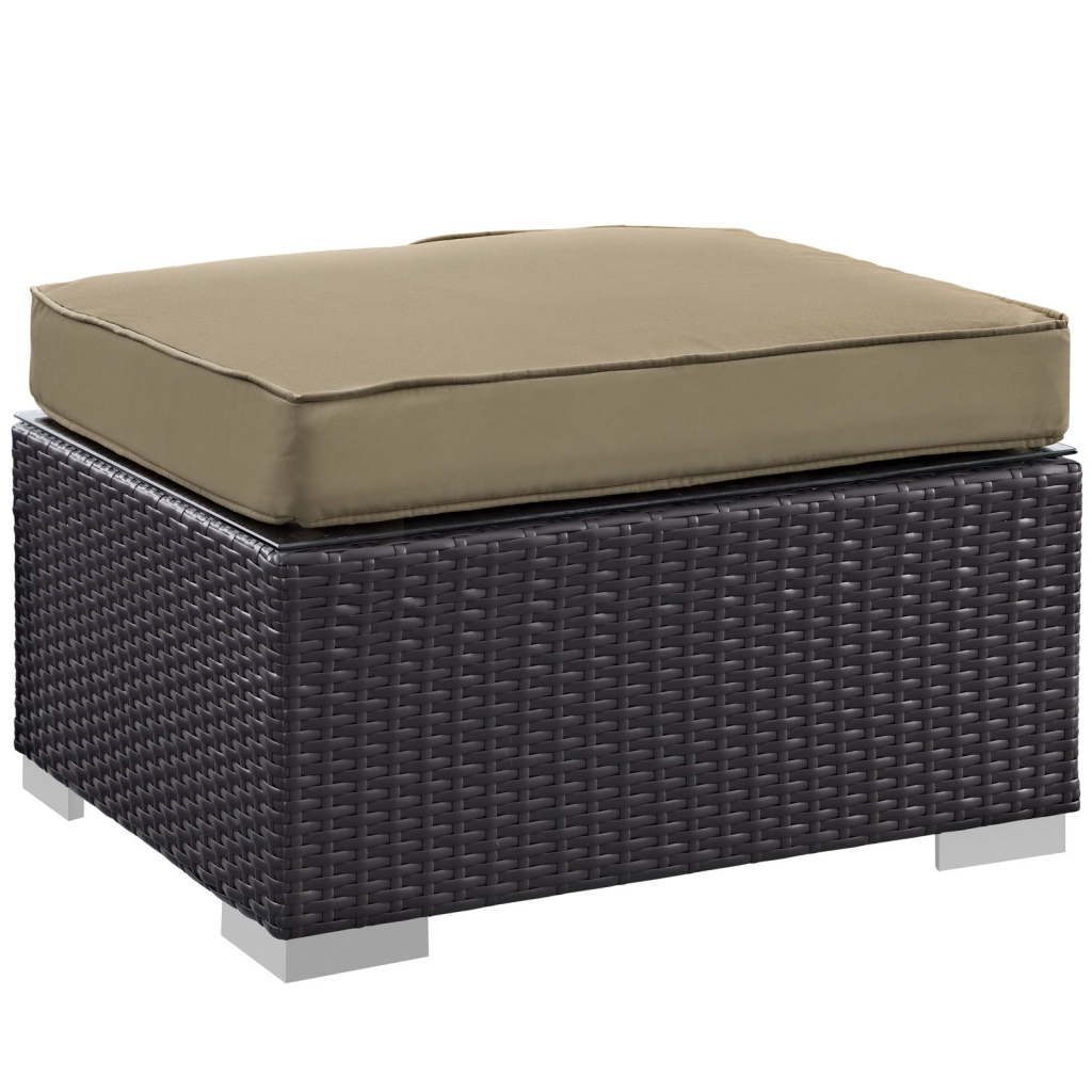 Moda Outdoor Ottoman Light Brown