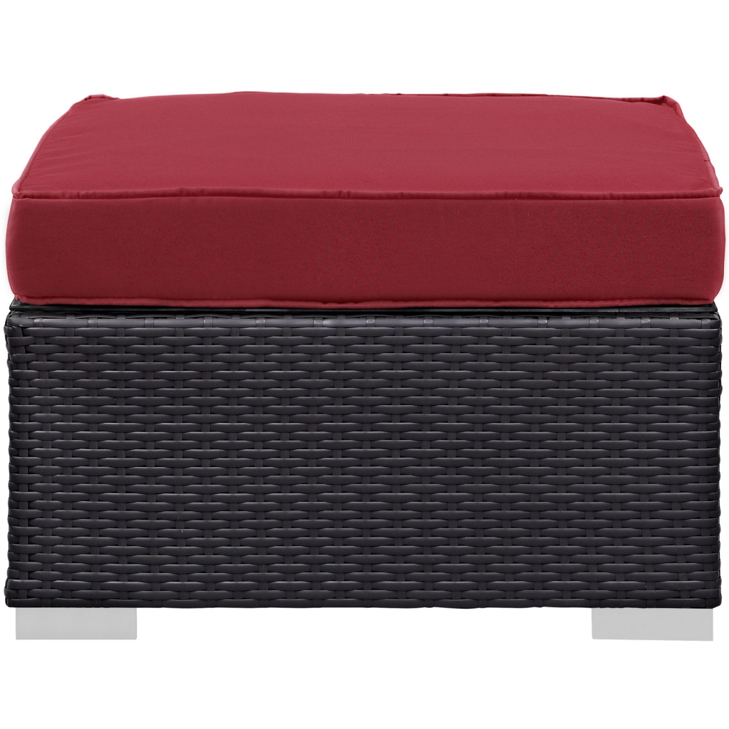 Moda Outdoor Red Ottoman