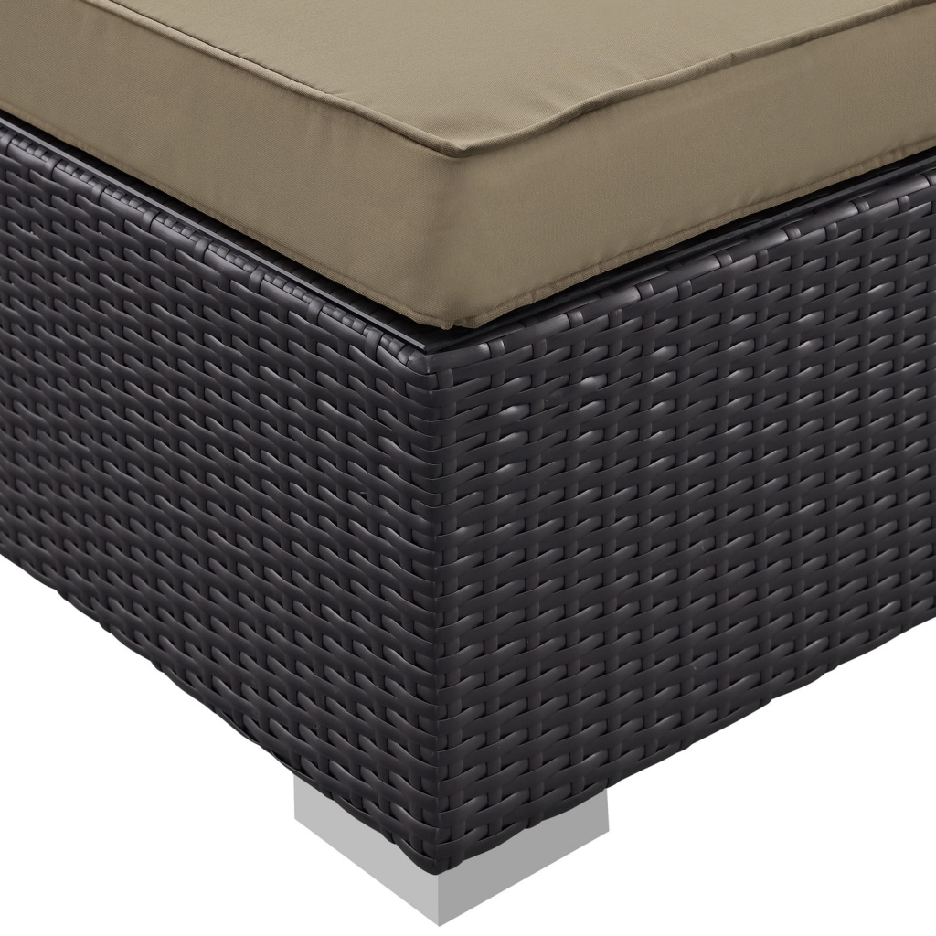 Outdoor Moda Ottoman Light Brown