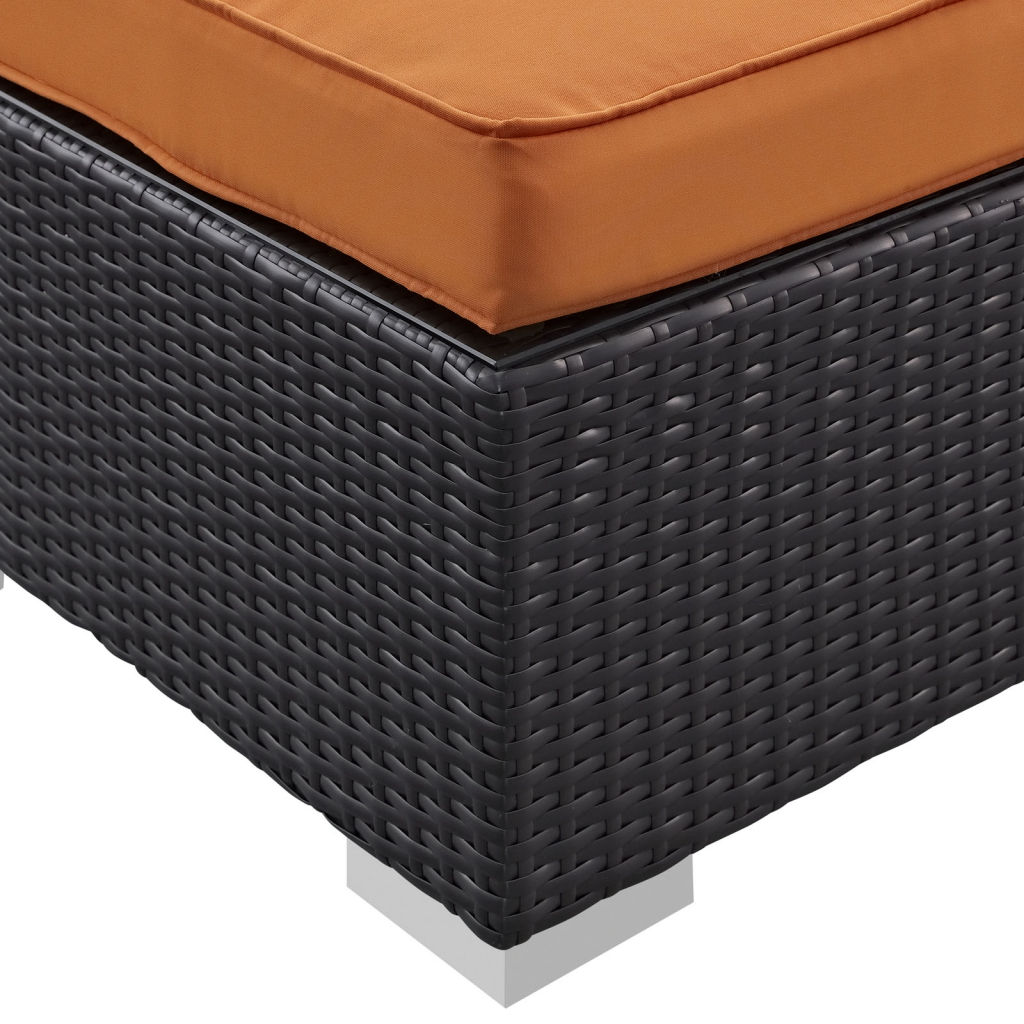 Outdoor Moda Ottoman Orange