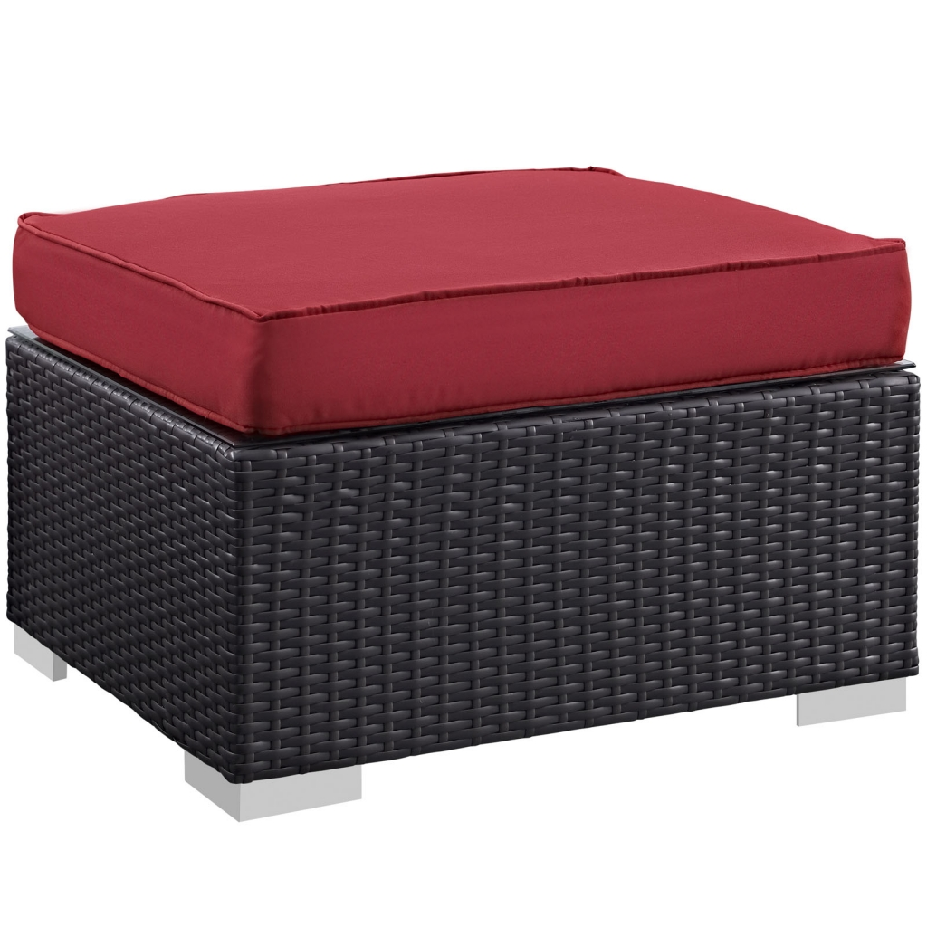 Outdoor Ottoman Red Moda