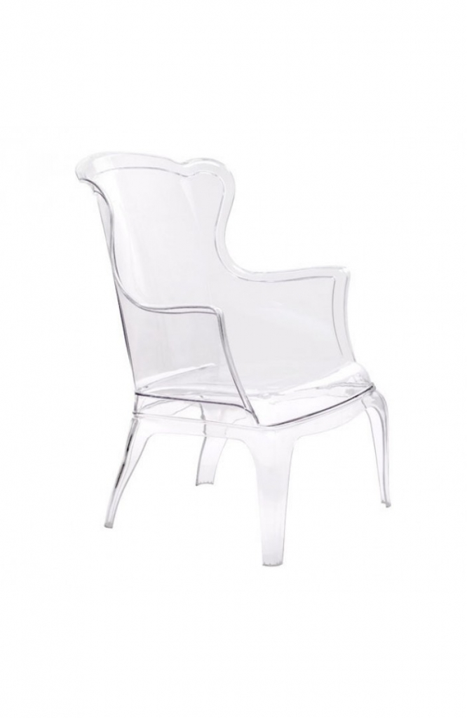Phantom Clear Accent Chair 10