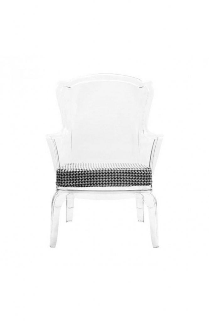 Phantom Clear Accent Chair 12
