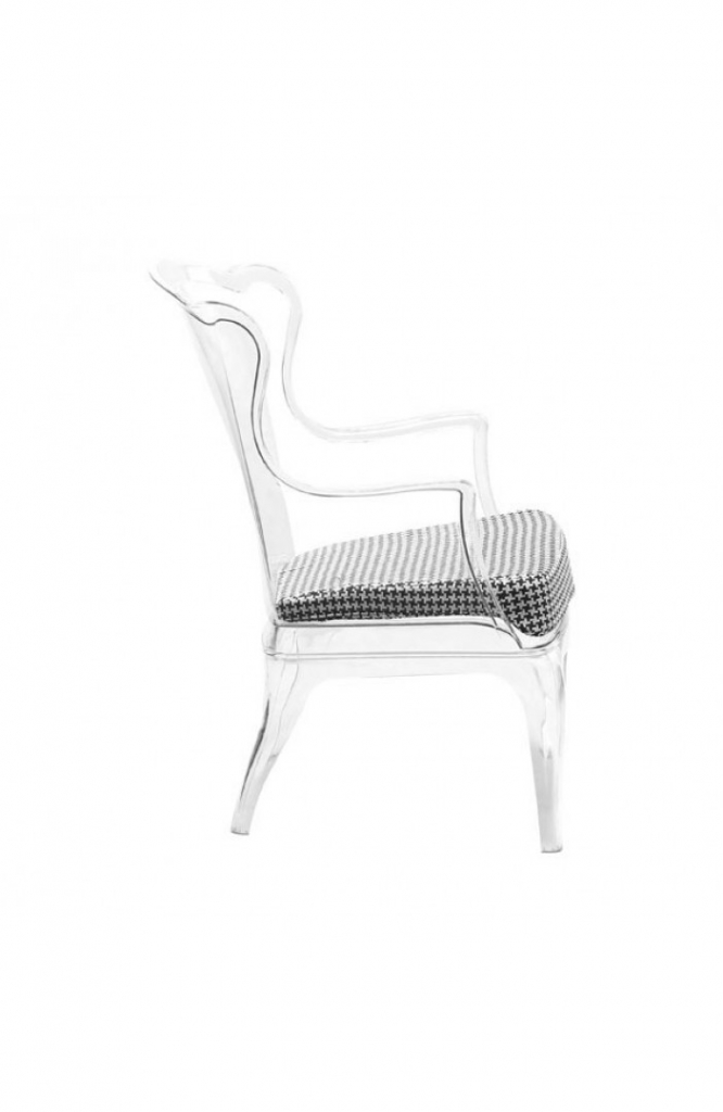 Phantom Clear Accent Chair 13